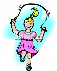 240x300 Girl Playing Jump Rope