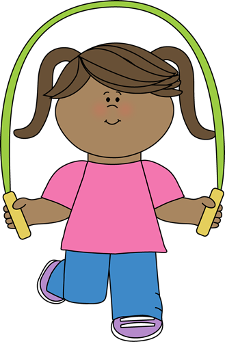 329x500 Girl With Jump Rope Clip Art