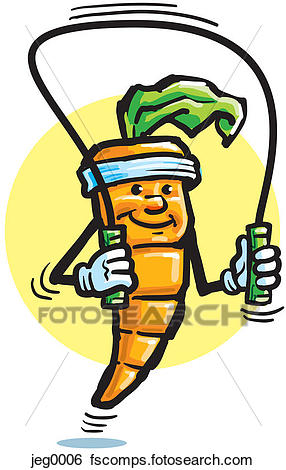 286x470 Stock Illustration Of A Carrot Skipping Rope Jeg0006