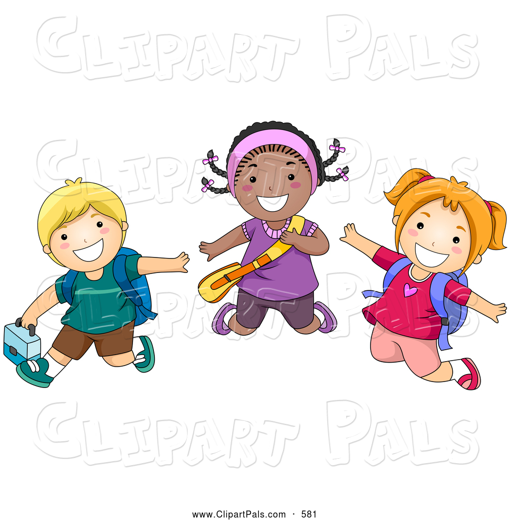 1024x1044 Pal Clipart Of A Smiling Group Of Diverse School Kids Jumping By