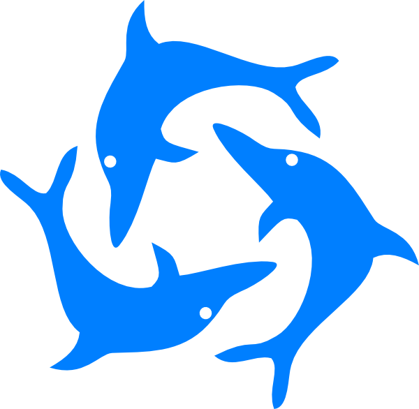 600x586 Jumping Dolphins Clip Art