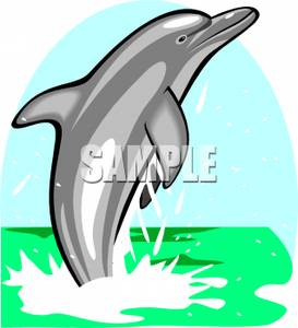 273x300 Dolphin Jumping Out Of The Ocean Water Clipart Picture