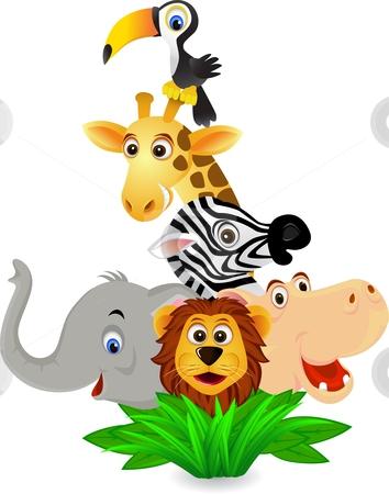 354x450 Cartoon jungle animals clipart 2