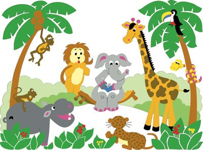 400x296 Cartoon Jungle Clipart