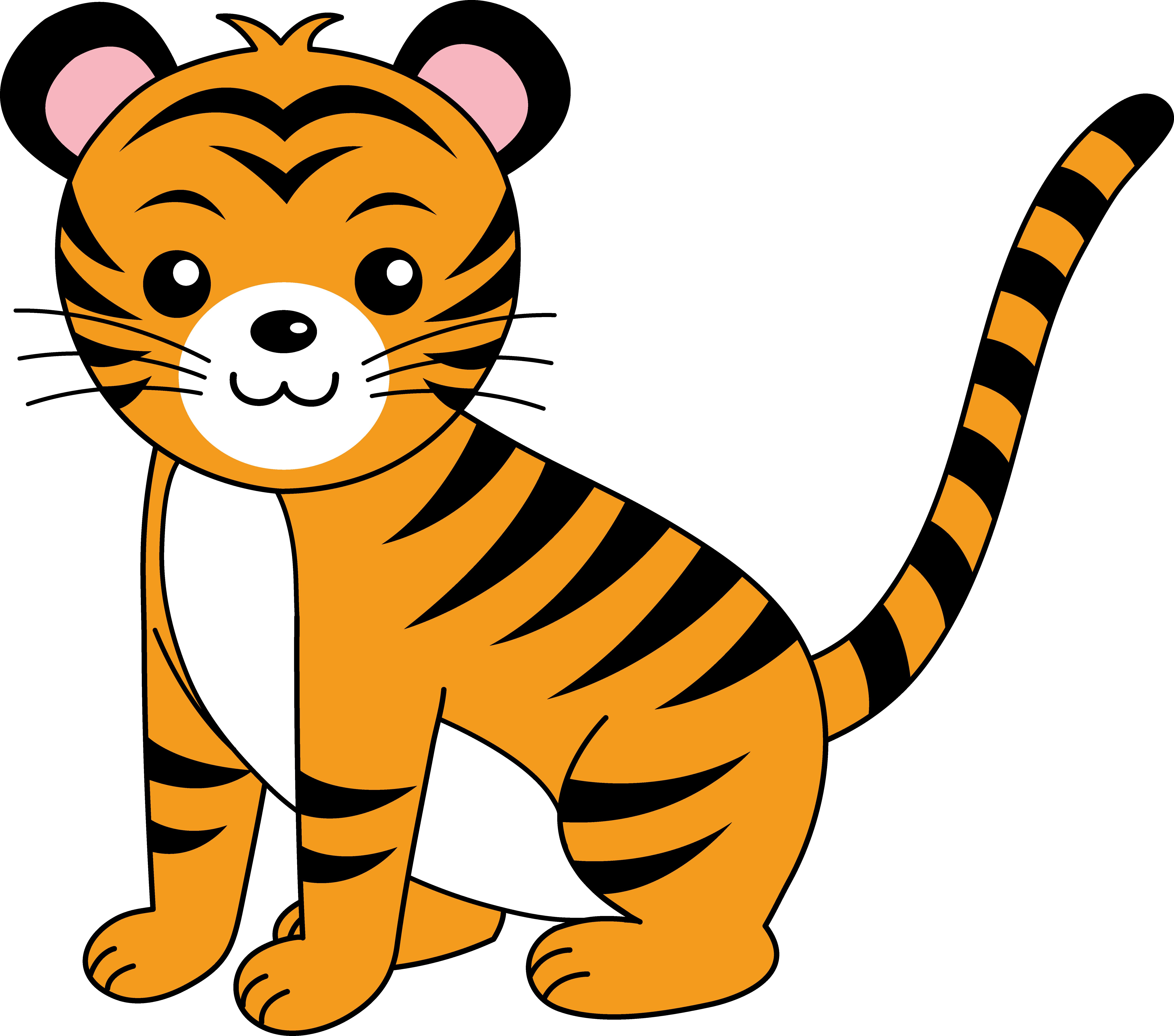 7178x6336 Stripe Clipart Jungle Animal
