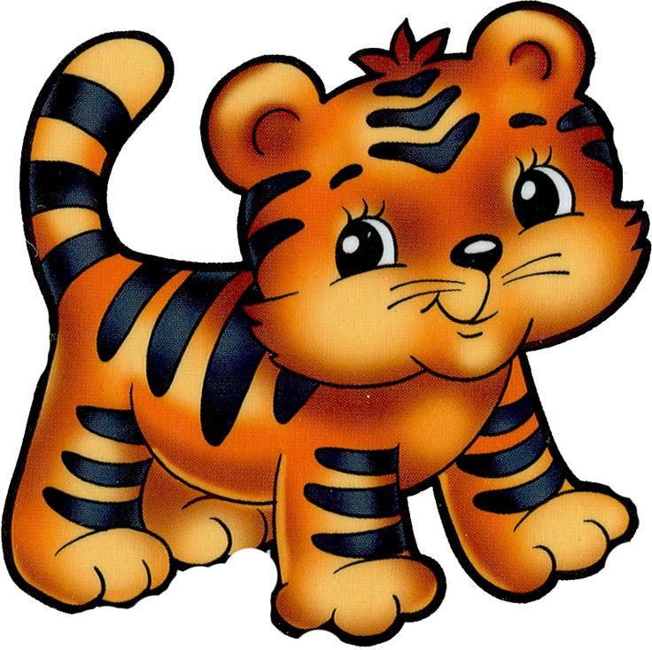 736x733 Baby Animal Clipart Tiger Tail
