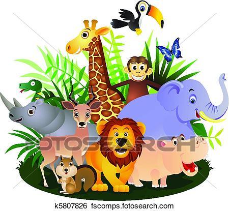 450x415 Clip Art Of Animal Cartoon K5807826