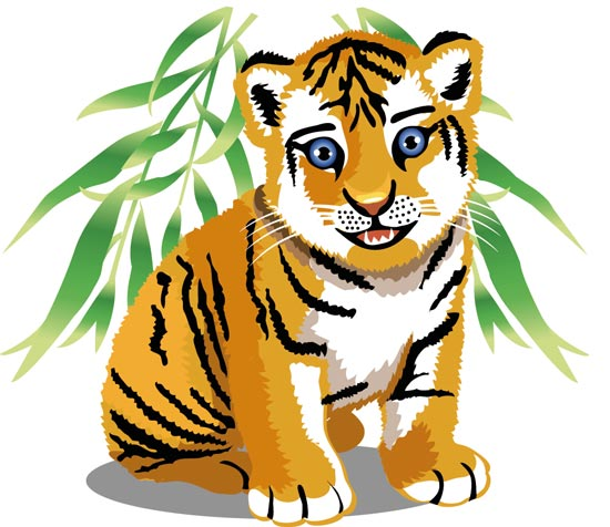 550x476 Tiger Clipart Jungle Animal