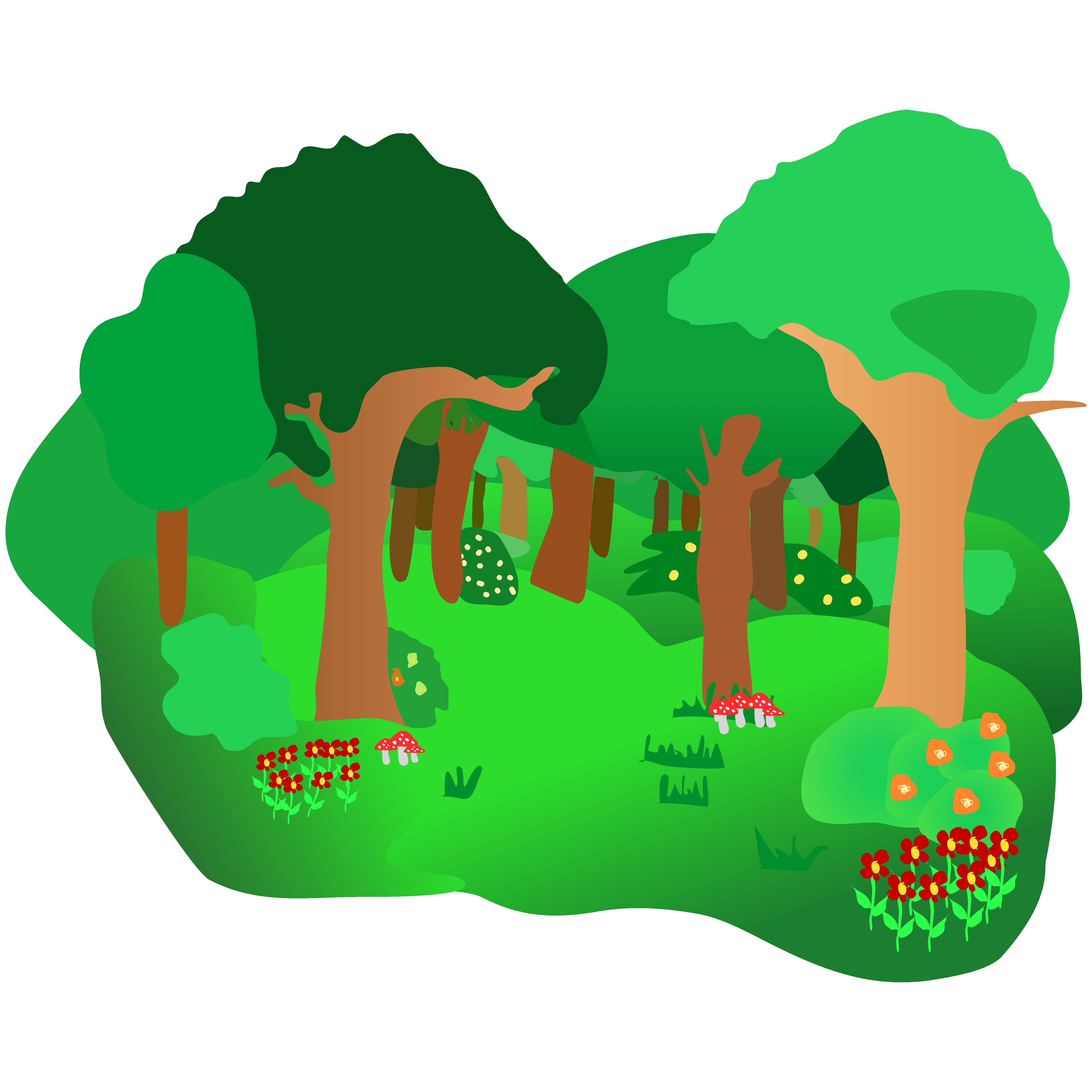 5204x5204 Top 73 Forest Clip Art