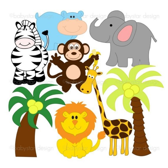 570x570 Baby Jungle Animals Clipart Free Images