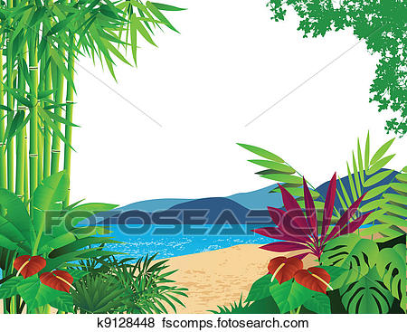 450x367 Clip Art Of Beautiful Forest Background K9128448