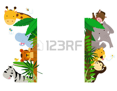 450x353 Fun Jungle Animals Border Royalty Free Cliparts, Vectors,