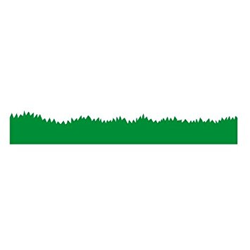 355x355 Grass Border Wall Sticker (1m) By Stickerscape