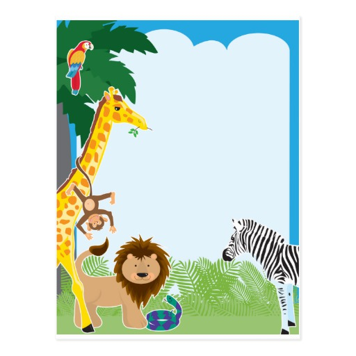 512x512 Czeshop Images Jungle Paper Border