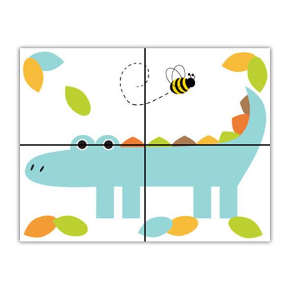 570x570 Safari Nursery Decor Alligator Decal Jungle Animals Wall Sticker