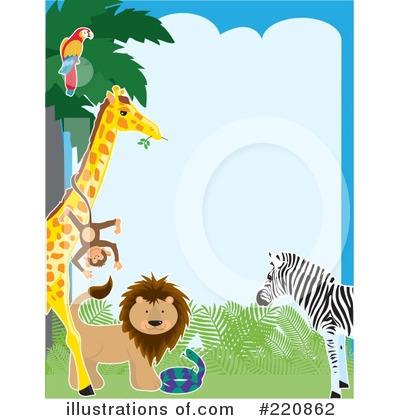 400x420 Zoo Animals Border Clipart