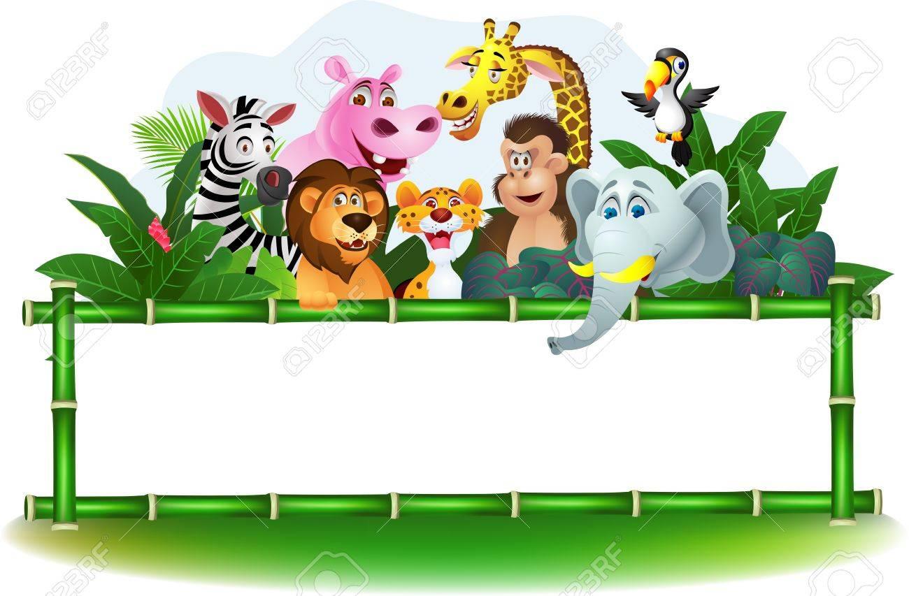 1300x853 Images Cartoon Jungle Animals Borders