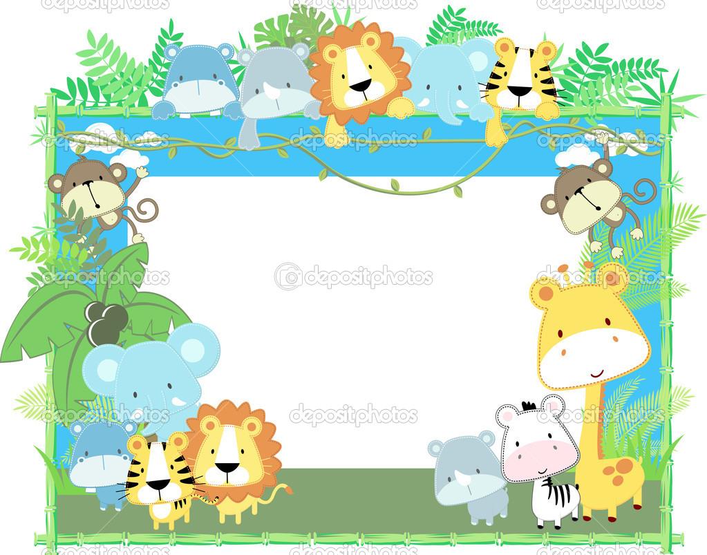 1023x803 Baby Jungle Borders Clipart