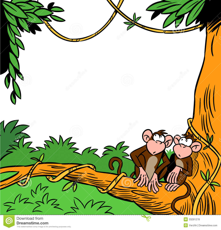 1300x1351 Monkey Jungle Clipart