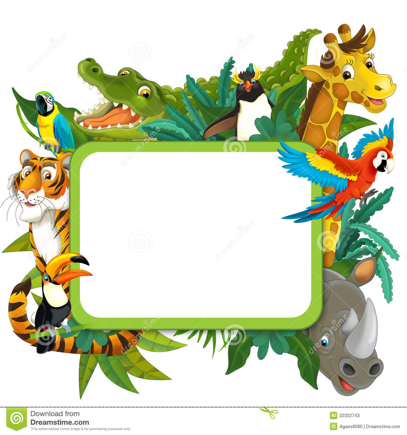 1300x1390 Jungle Border Clipart