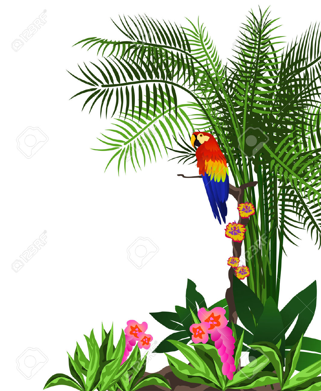 1067x1300 Forest Flower Clipart