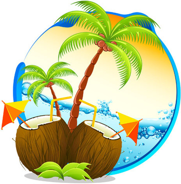 362x368 Vector Tropical Jungle Background Free Vector Download (43,488