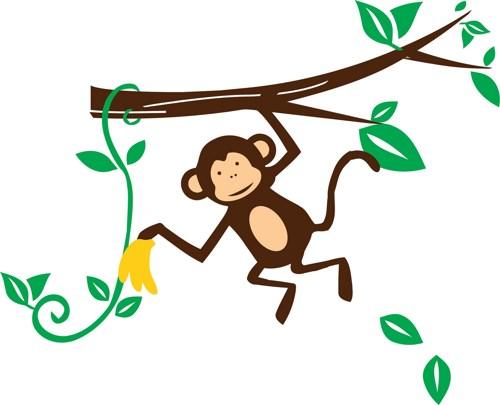 500x405 Image Of Baby Monkey Clipart 4 Hanging Monkey Clip Art