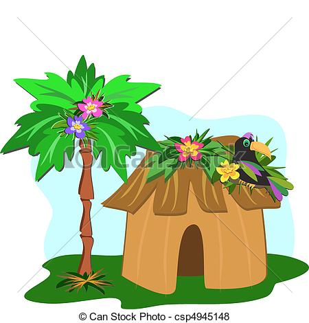450x470 Jungle House Clipart