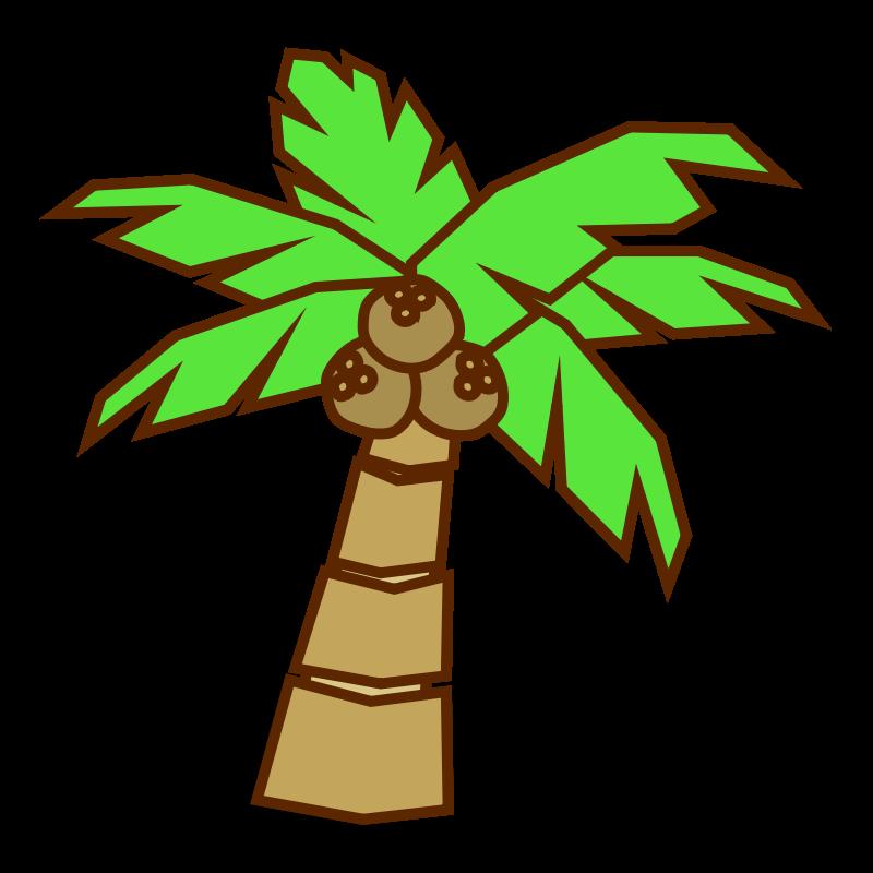 800x800 Cartoon Jungle Tree Clipart