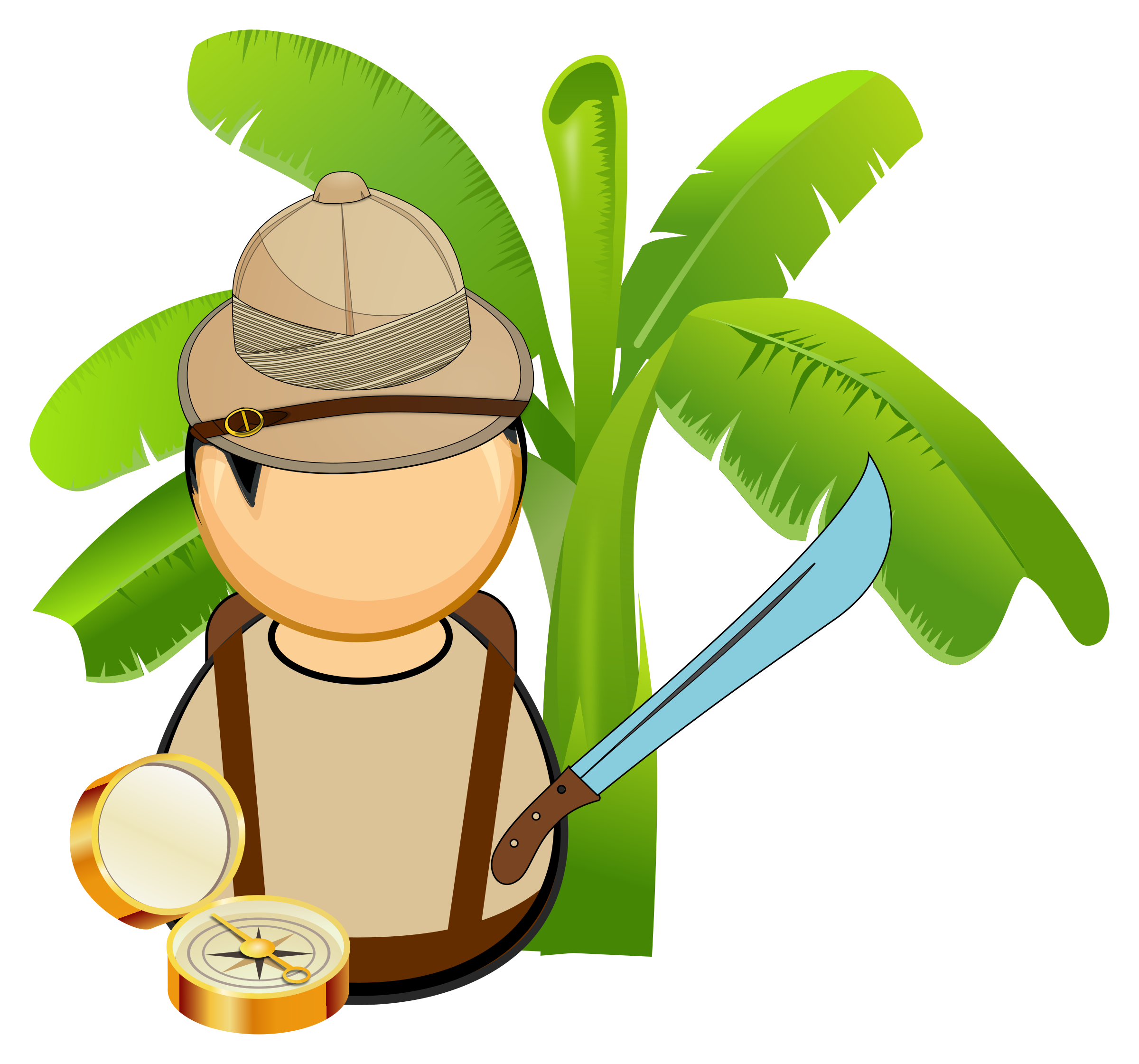 2400x2241 Jungle Clipart Jungle Explorer