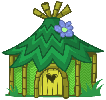 372x350 Jungle Clipart Jungle Hut