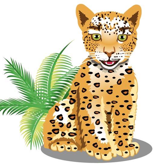 510x550 Leopard Clipart Jungle Animal