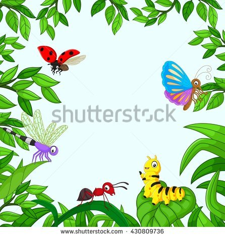 446x470 Bugs Clipart Jungle