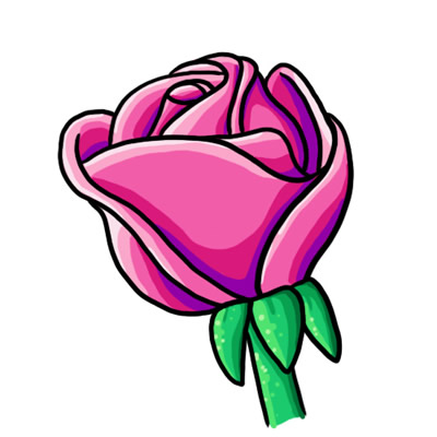 400x400 Blue Rose Clipart Jungle Flower