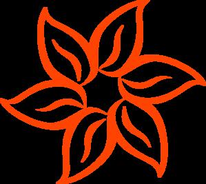 299x267 Dark Orange Flower Clip Art