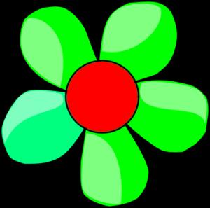 300x297 Green Flower Clip Art
