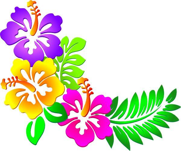 600x499 Polynesia Clipart Tropical Flower