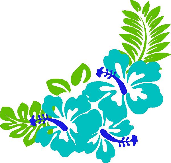 600x570 Tropical Flower Clip Art