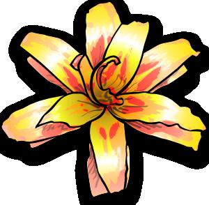 300x294 Yellow Flower Clip Art