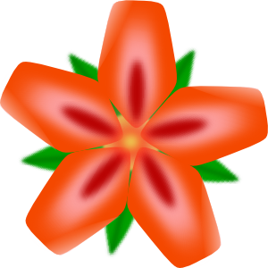 300x300 Atulasthana Red Flower Clip Art