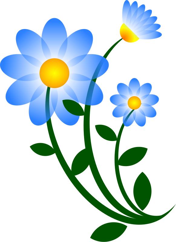 582x800 Blue Flower Clipart Jungle Flower