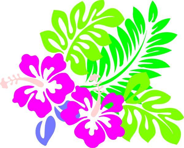 600x483 Blue Flower Clipart Jungle Flower