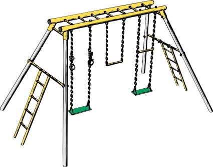 425x333 Swing Clipart Jungle Gym