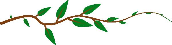 600x158 Leaf Vine Clip Art