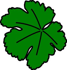 288x297 Vine Leaf Clip Art