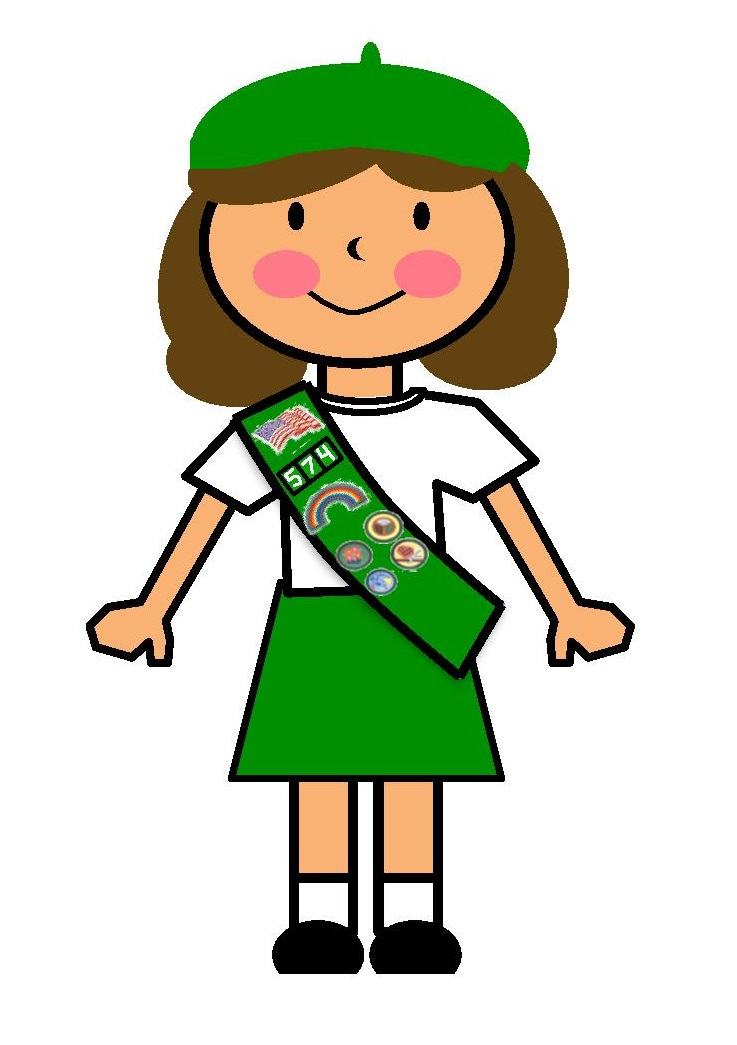737x1045 Girl Scout Sunday Clipart