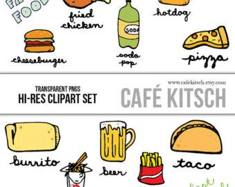 340x270 Food Clip Art Etsy