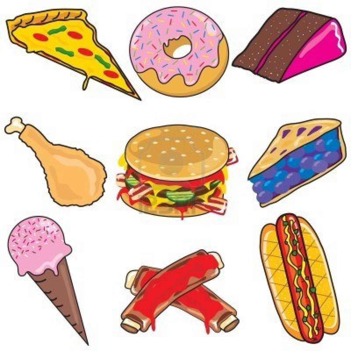 1200x1200 Best Junk Food Clipart