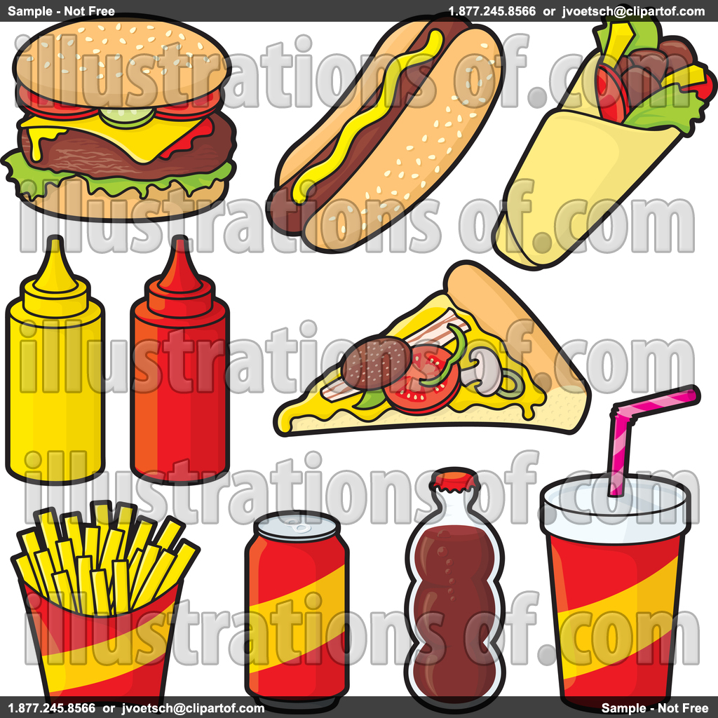 1024x1024 Healthy And Junk Food Clipart
