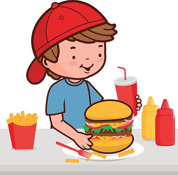 612x602 Kids Eating Junk Food Clipart
